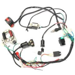 Pit Bike Wiring Diagram Electric Start Xtrons Stereo 50cc 70cc 90cc 110cc Cdi Wire Harness Assembly Kit