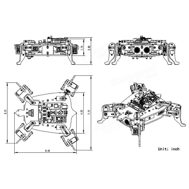 SunFounder Rollflash APP Control Bionic Robot Turtle IR