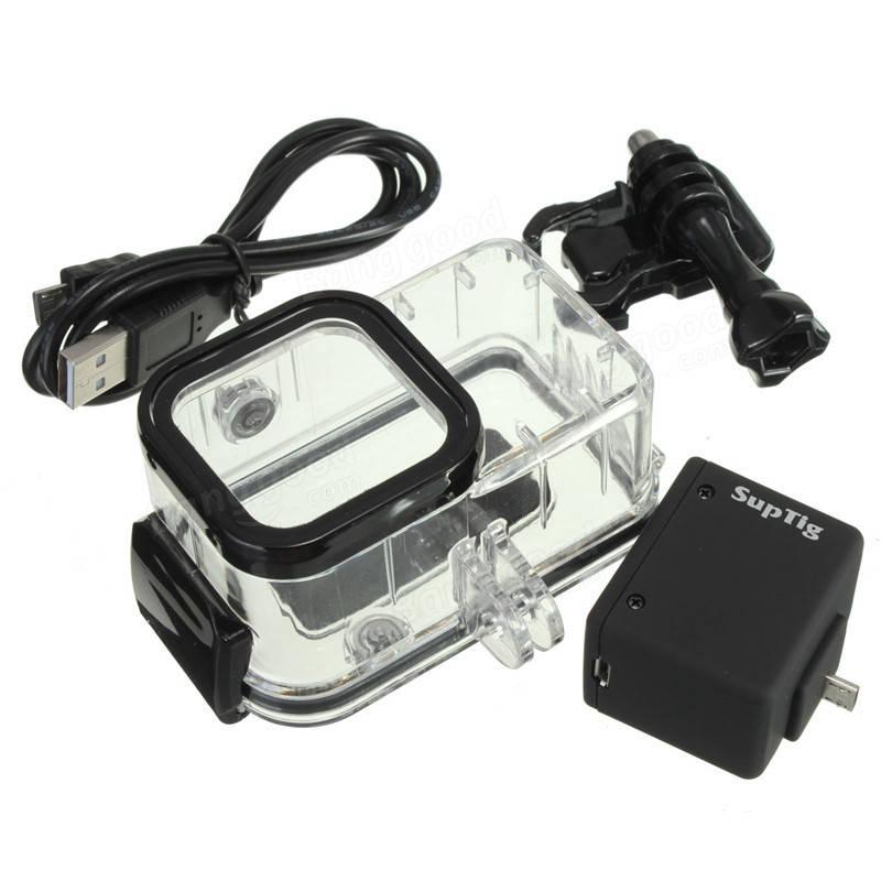 Backpack External Battery Waterproof Housing Case Set For