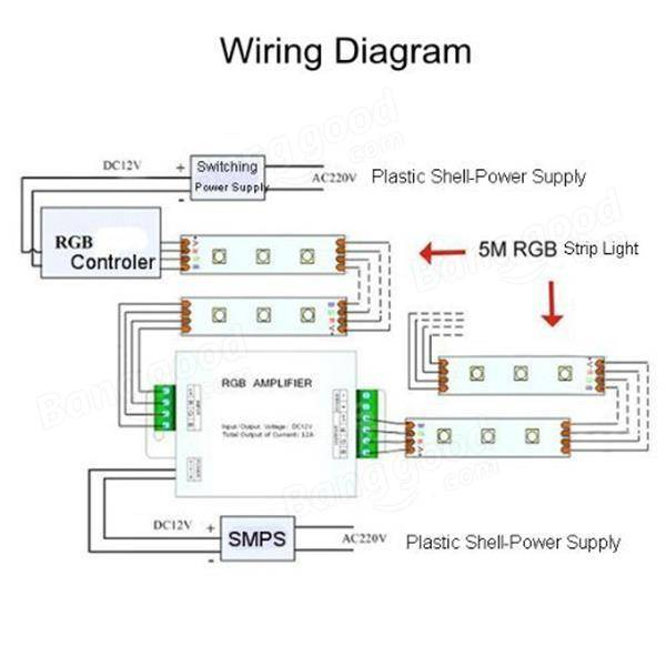Ansell Lighting Wiring Diagram Data Repeater Rgb Signal Amplifier For Smd 3528 5050 Led