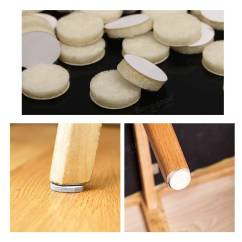 Floor Chair Protectors Eames Rocking 120pcs Round Beige Felt Pads Table Mats Wood Laminate