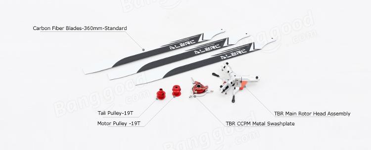 ALZRC Devil 380 420 FAST Three Blade Rotor Upgrade TBR Set