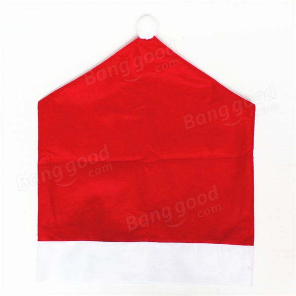 christmas chair back covers ireland the posture company snowflake red hat cover kitchen dinner seat home party decoration at ...