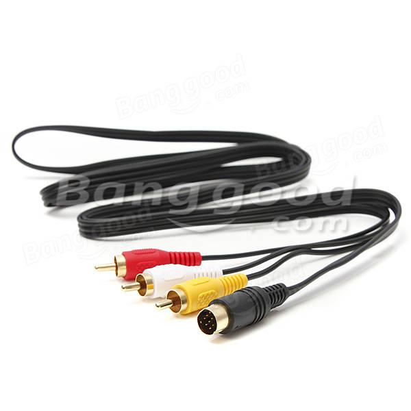 Audio Video AV Cable fits Sega Saturn A/V 1.8m 6ft Feet