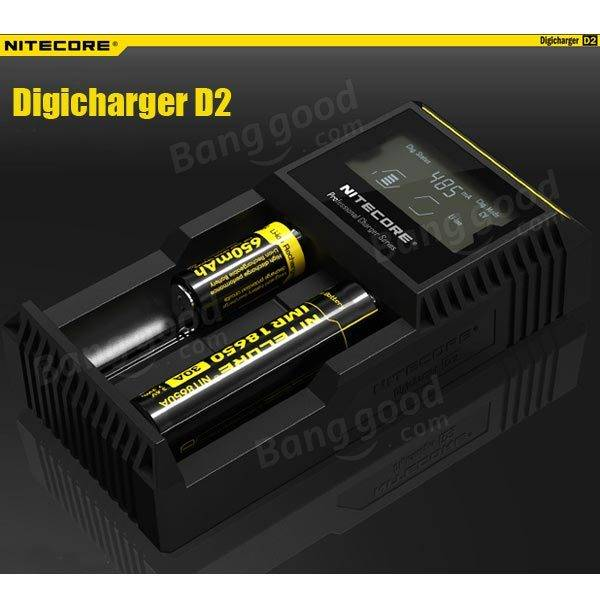 NITECORE Digicharger D2 LCD Display Universal Smart Charger