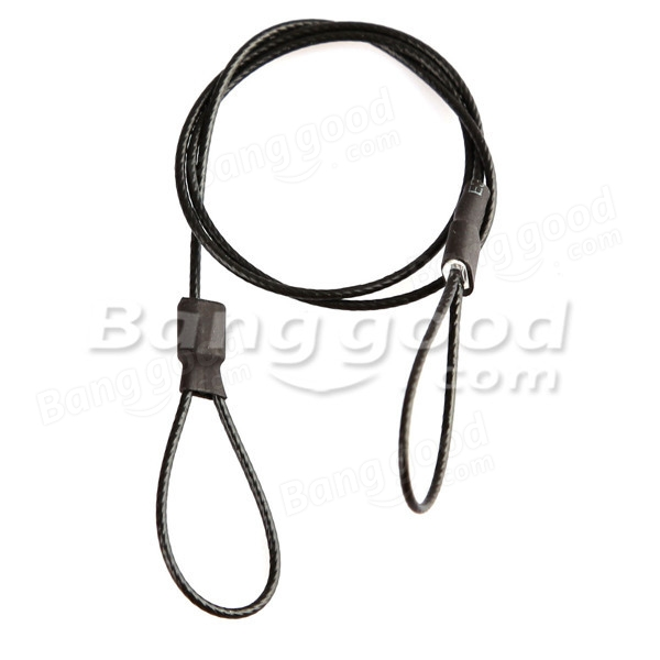 30cm Stainless Steel Safety Tether Strap + Screw For Gopro