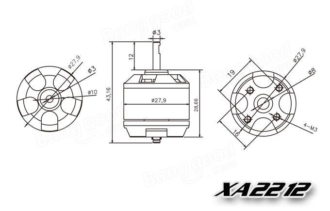 EMAX XA2212 820KV 980KV 1400KV Motor With Simonk 20A ESC
