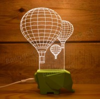 Creative 3D Night Light LED Lamp USB Input Balloon Gift ...