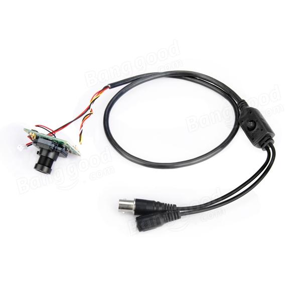 1200TVL 1/3 inch 3.6mm IR-Cut Mini CCTV Camera with