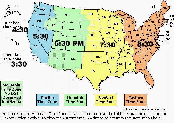 美國的時區與時間_美國邦利