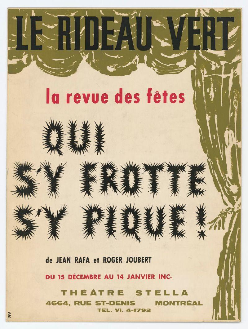 Qui Sy Frotte Sy Pique : frotte, pique, Frotte, Pique!, Roger, Joubert, Revue, Fêtes, Numérique
