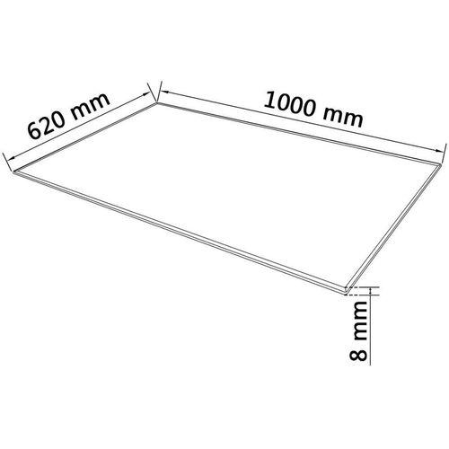 Ploča za Stol Kaljeno Staklo Pravokutna 1000x620 mm