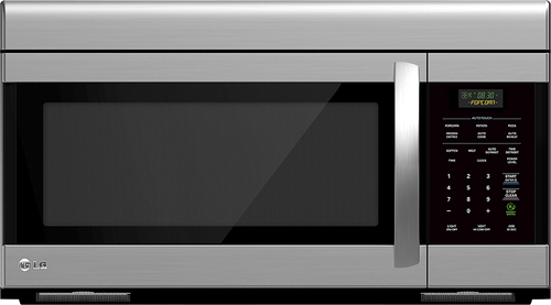 lg open box 1 6 cu ft over the range microwave stainless steel open box refurbished clearance items