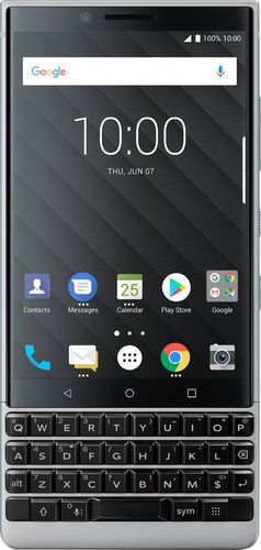 BlackBerry - KEY2 4G LTE with 64GB Memory Cell Phone (Unlocked) - Silver