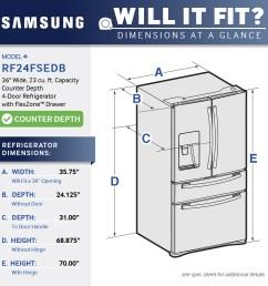 samsung 22 6 cu ft counter depth 4 door french door refrigerator with thru the door ice and water stainless steel at pacific sales [ 1000 x 1000 Pixel ]