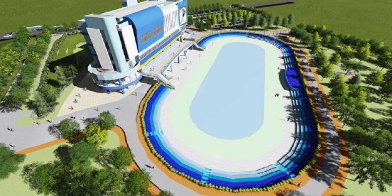 台中首座國際級「滑輪溜冰場」預計7月完工,港區運動園區結合親子餐廳與公園人潮