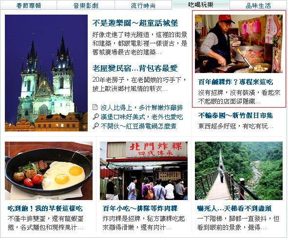 【2012/1/26】金門鹹粿炸登上奇摩首頁記錄(第18篇)