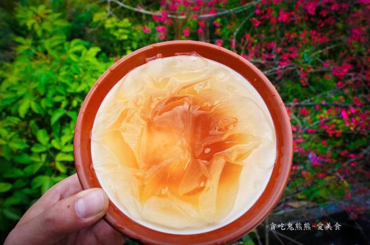 屏東美食 霧台鄉/摩凱咖啡-櫻花樹下吃特別風味的愛玉