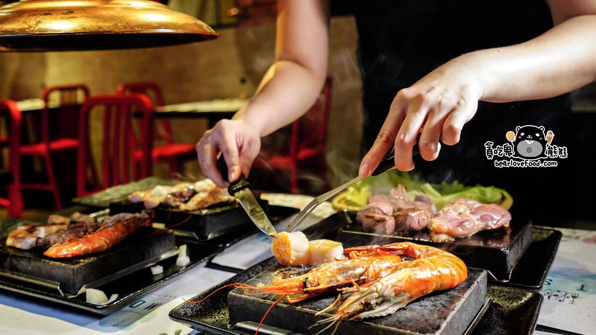 高雄三民區美食 秘燒時尚巖燒牛排-高貴而不貴。品質好吃的日本火山巖燒牛排 - 貪吃鬼熊熊-美食/攝影/旅遊