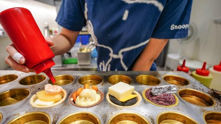 鼓山美食 御餅舖紅豆餅-瑞豐夜市隔壁,創意脆皮紅豆餅,有店面有冷氣而且還營業到晚上11點