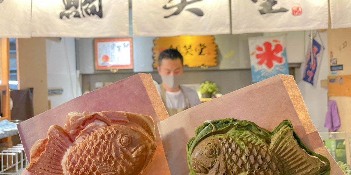 一中街美食 鯛笑堂-一中夜市必吃美食之一,日本師傅的鐵板烤鯛魚燒