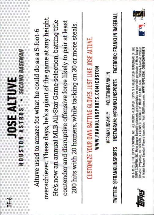 2016 Topps Update Team Franklin Baseball Card #TF6 Jose