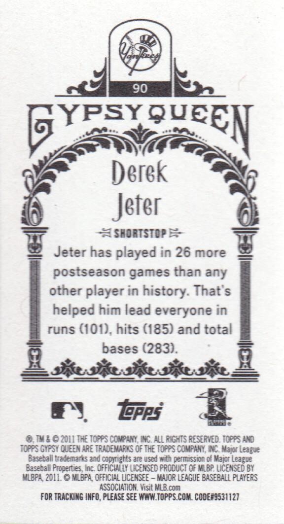 2011 Topps Gypsy Queen Mini #90 Derek Jeter New York