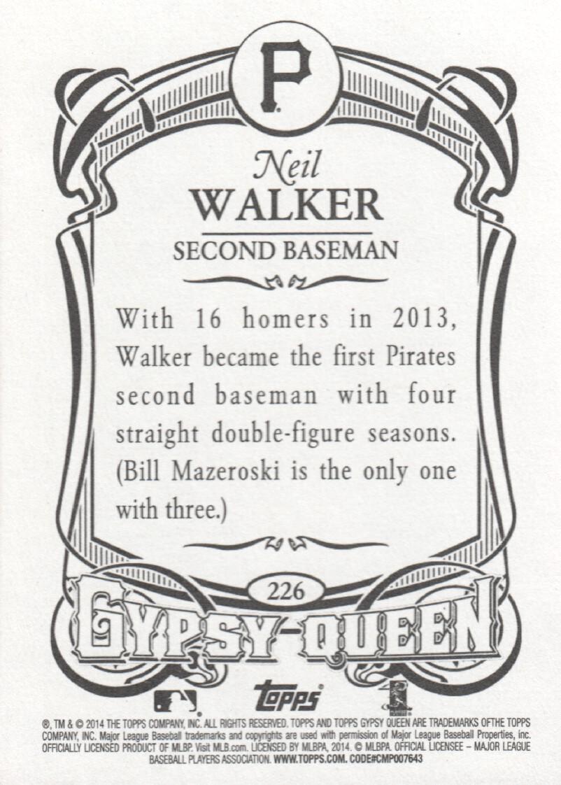 2014 Topps Gypsy Queen Baseball #226 Neil Walker