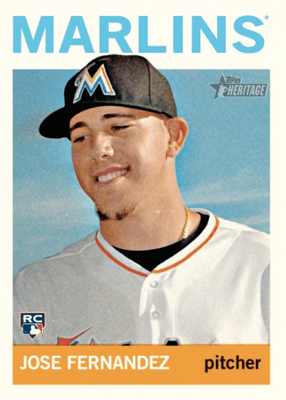 Image result for jose fernandez baseball card