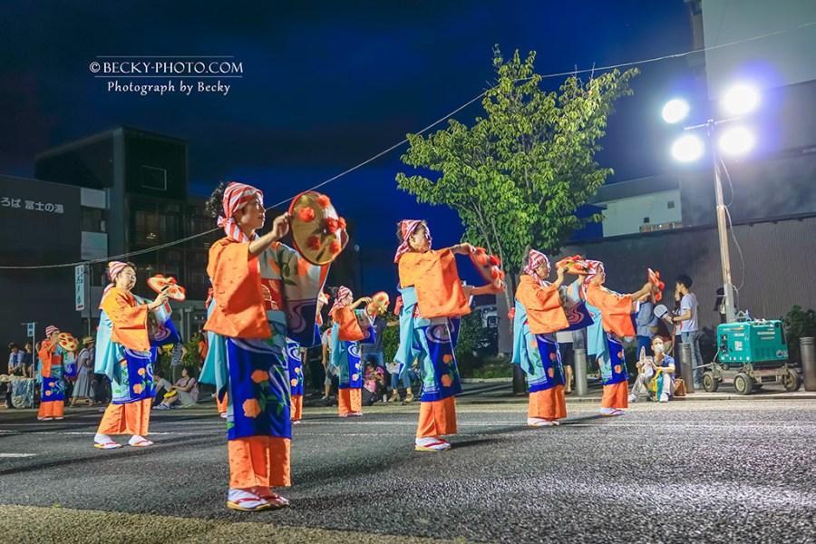 【日本】。東北夏天祭典『山形天童市花苙祭』在日本看遊行吃路邊攤 @天童夏まつり