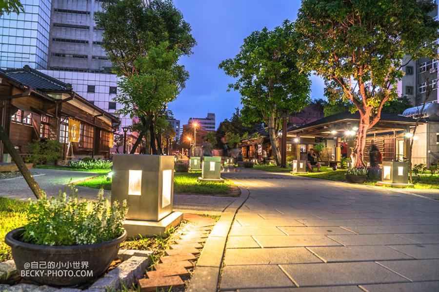 【桃園】。桃園77藝文町日式建築!夜間拍攝有氣氛@桃園火車站附近