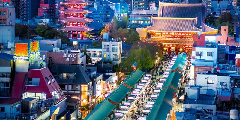 【東京】。淺草寺雷門夜景!淺草美食鰻魚飯+新宿居酒屋街『思出横丁』氛圍