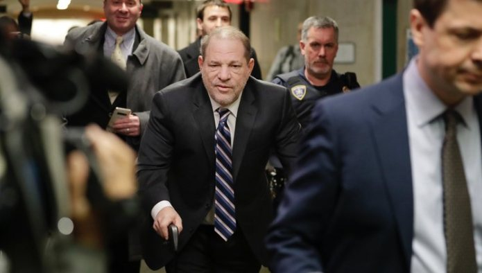 Harvey Weinstein arriving at the Court in New York on the 11th day of the trial against him