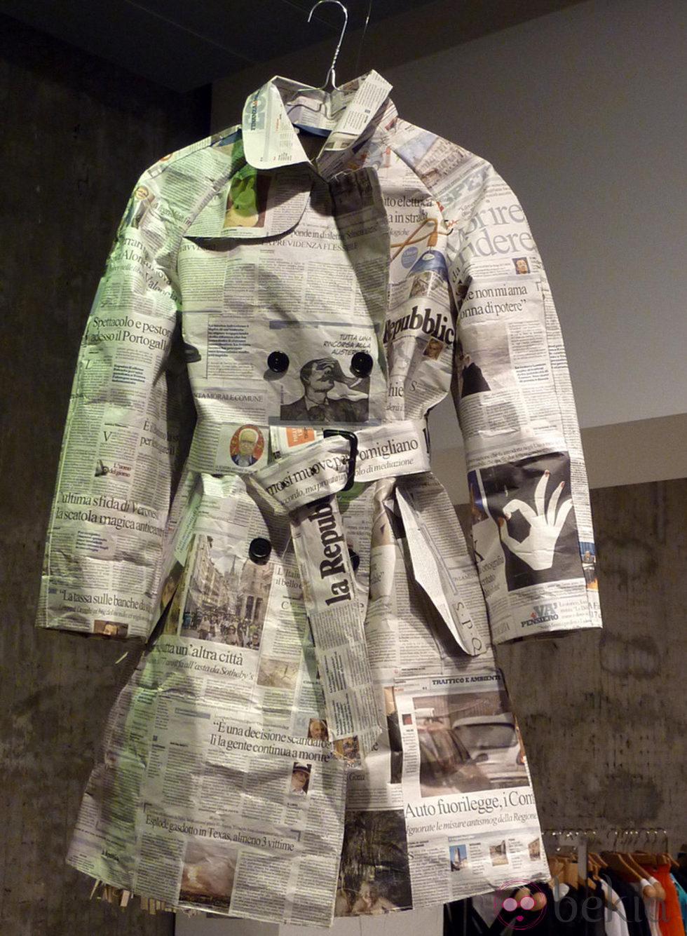 Infantiles Con Material Reciclado Vestido De Papel De Aspesi