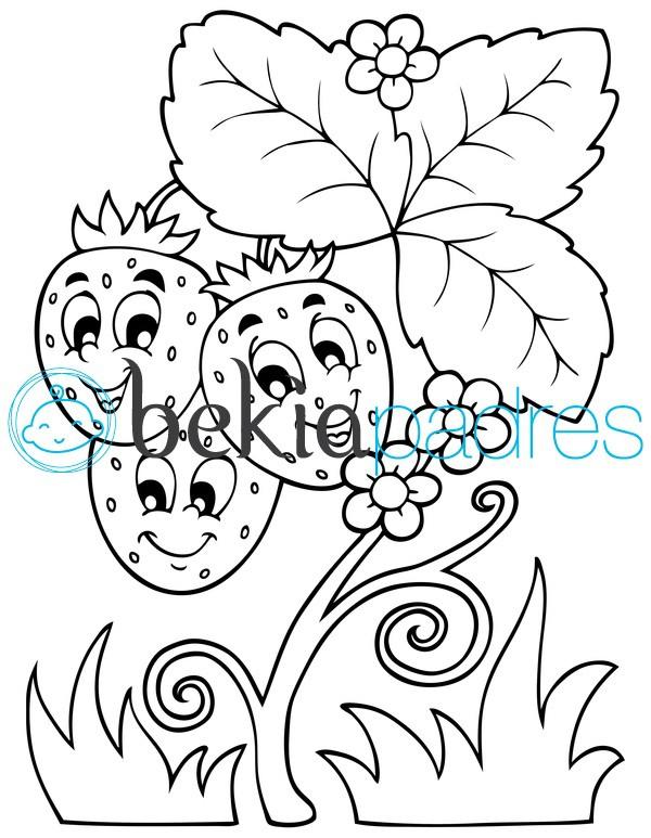 Planta Con Fresas Dibujalia