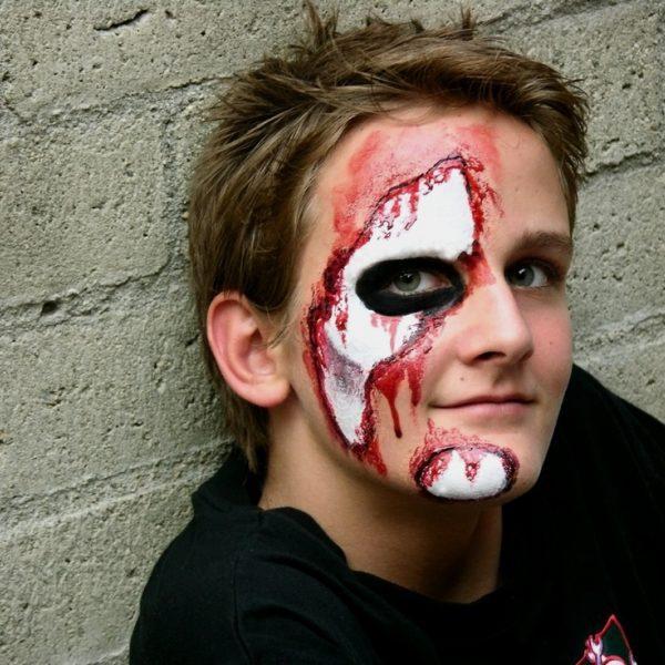 Maquillaje de herido para Halloween  Maquillaje de