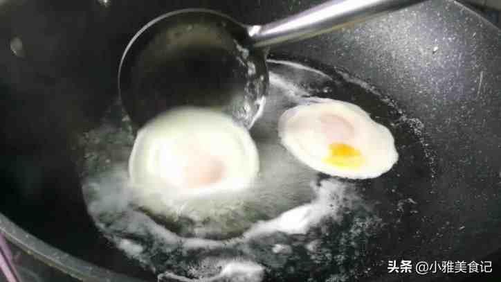 这才是水煮荷包蛋的简单做法,不散花,个个圆溜溜,家常实用