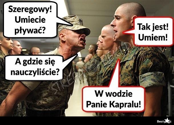 Genialna odpowiedź żołnierza :D - Obrazkowo.pl - najlepsze memy w sieci.