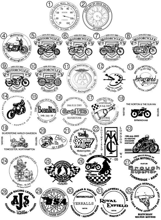 Motorcycles Postmarks / BFDC