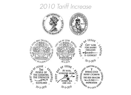 60p, 67p, 88p, 97p, £1.46, E, W (EP) 2010: Postmarks / BFDC