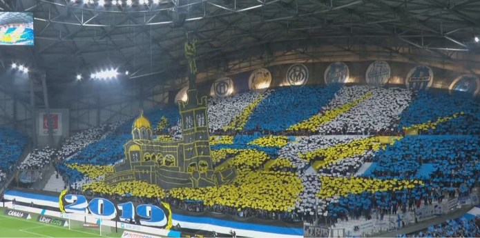 The tifo on the South turn