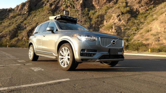 An autonomous car from Uber.