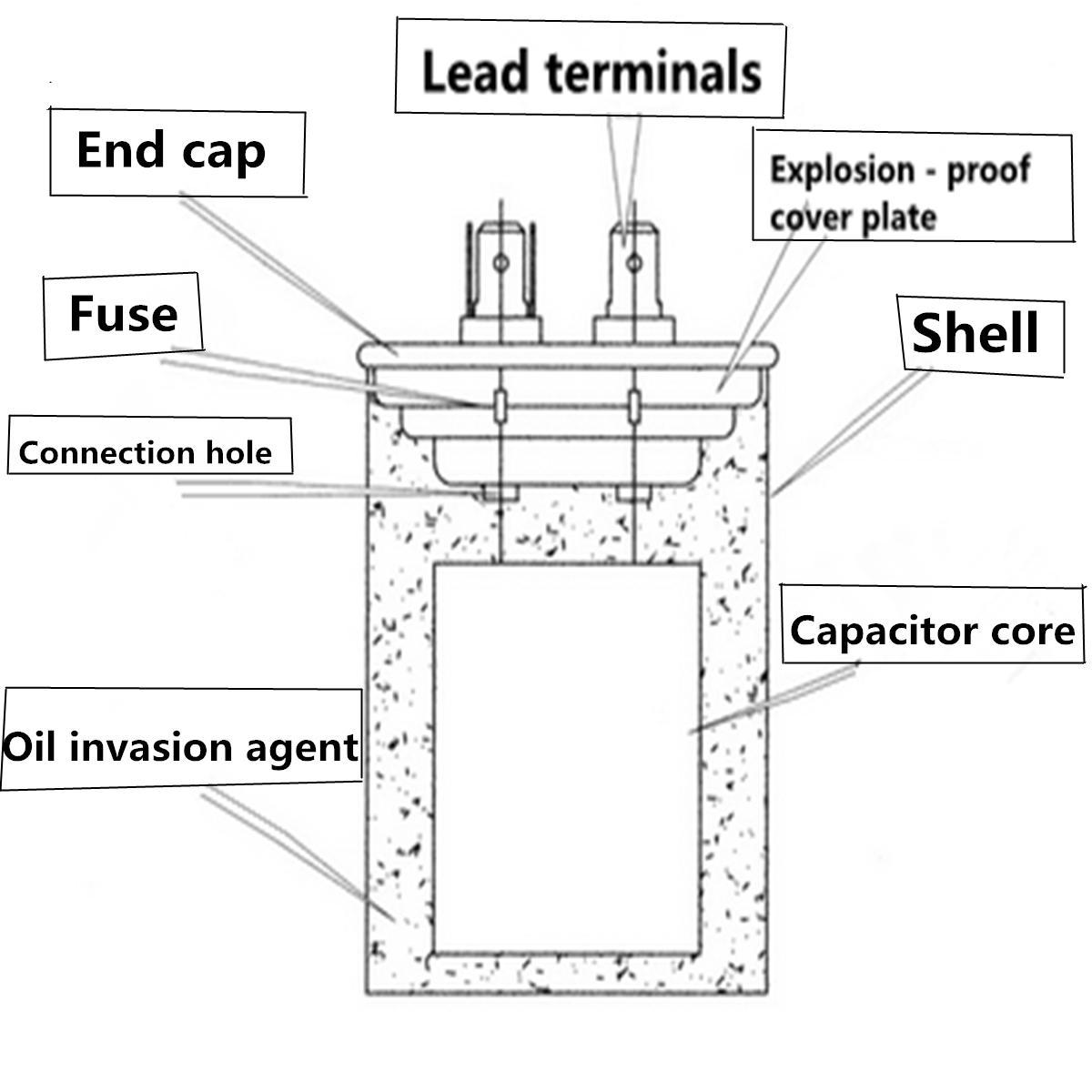 15-50uF Motor Capacitor CBB65 450VAC Air Conditioner