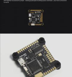 dalrc f405 betaflight osd bec stm32f405rgt6 controlador de vuelo para rc drone fpv racing 30 5x30 5mm [ 800 x 2067 Pixel ]