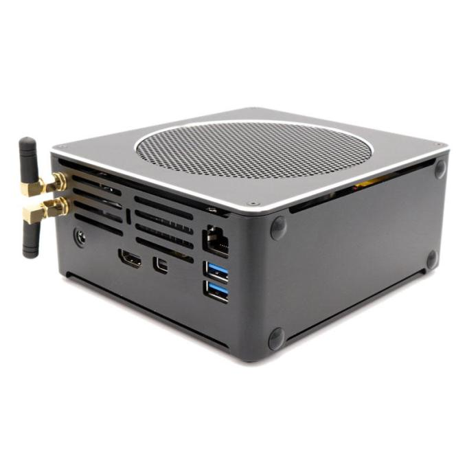 Eglobal S200 Mini PC Xeon E2176M Barebone Hexa Wi UHD Graphics 630 4.4GHz Fanless Mini Desktop PC SATA mSATA MIC VGA HDMI 1000M WIFI