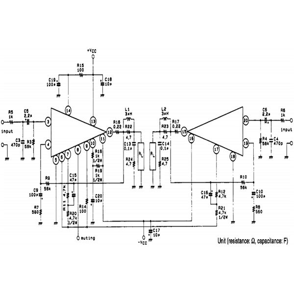 100 + 100 Watt Car Stereo Amplifier Circuit Diagram Using
