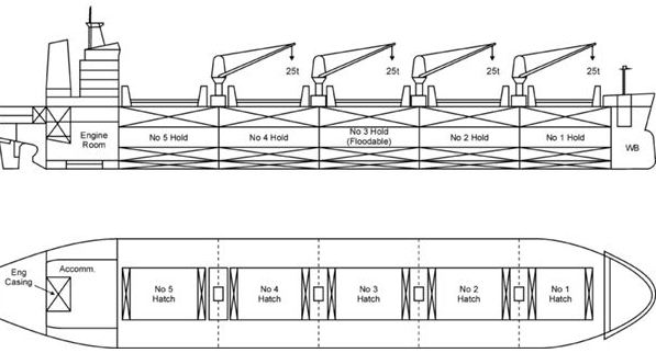 Bulk Carrier Inspection in Critical Areas ,in Cargo Holds