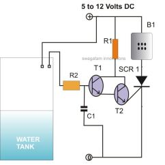 Dld Mini Projects Circuit Diagram 1972 Toyota Land Cruiser Fj40 Wiring How To Make Simple Scr Circuits Controlled Water Level Alarm