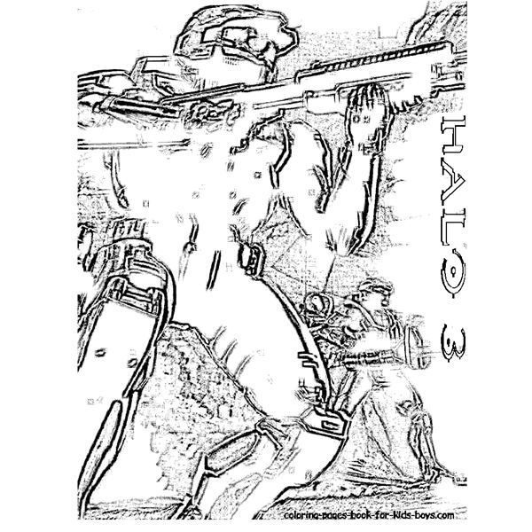 Where to Get Halo 3 Coloring Pages