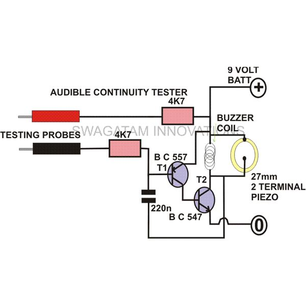 how to build a continuity tester circuit